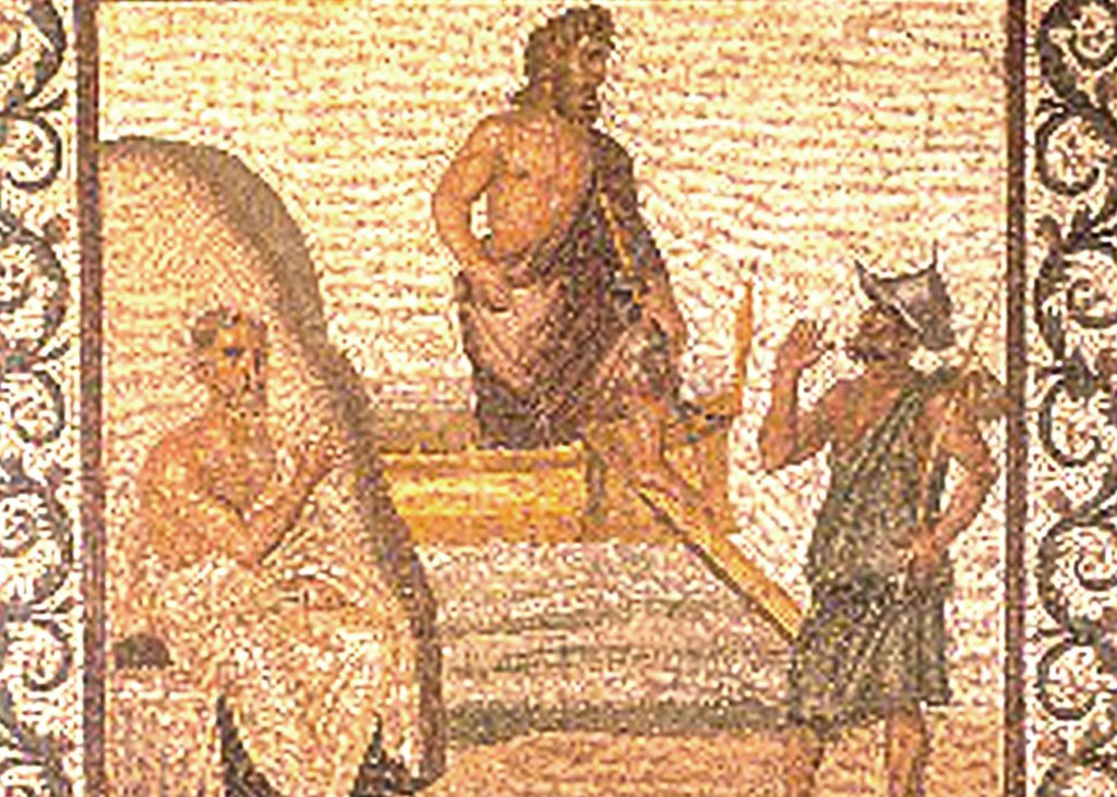Archaeological Museum of Kos, mosaic of the arrival of Asklepios on Kos
