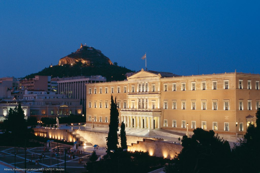 """""""Athens, Parliament-Lucabetus Hill"""" by Y.Skoulas, courtesy of GNTO, www.visitgreece.gr"""