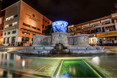 Lions Square, Heraklion, Crete, Greece