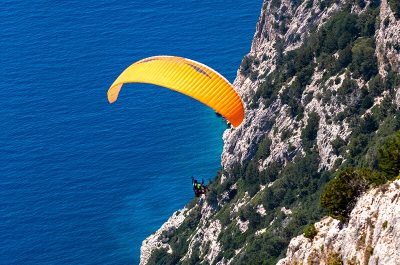 Paragliding, Adventure Tourism. Kefalonia, Ionian Islands